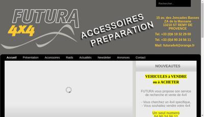 Capture d'écran du site de SARL Futura 4X4