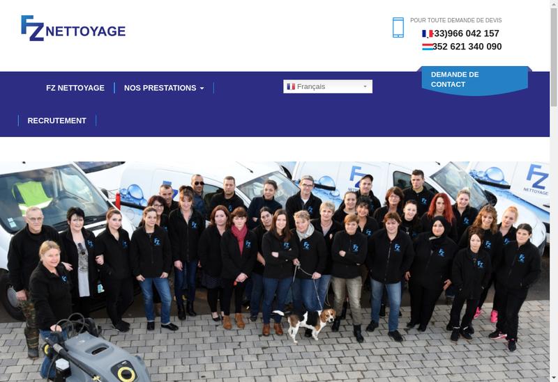 Capture d'écran du site de Fz Nettoyage