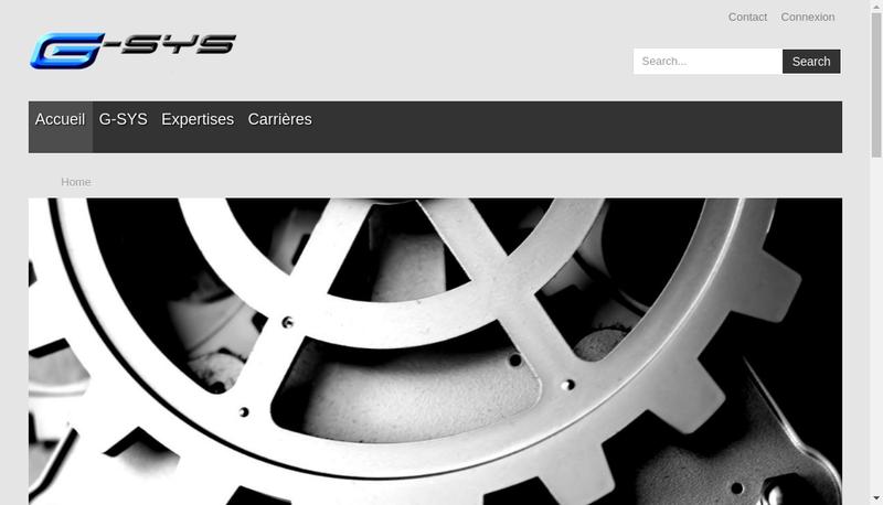 Capture d'écran du site de G Sys Ingenierie