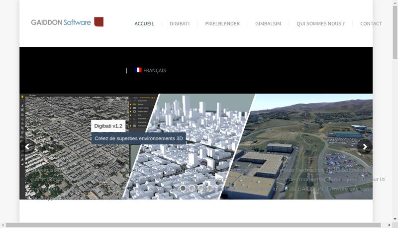 Capture d'écran du site de Gaiddon Software