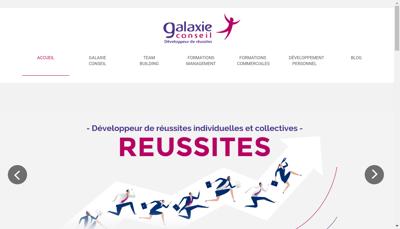 Capture d'écran du site de Galaxie Conseil et Formation