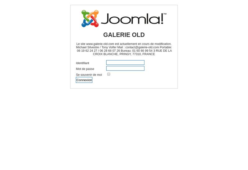 Capture d'écran du site de OLD