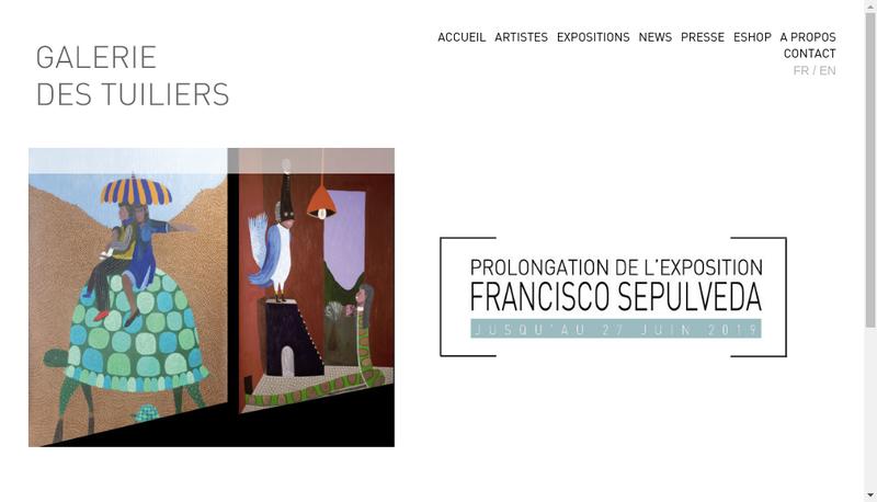 Capture d'écran du site de Galerie des Tuiliers