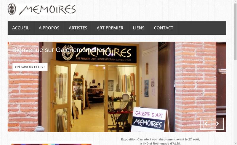 Capture d'écran du site de Galerie Memoires