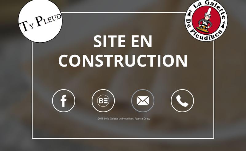 Capture d'écran du site de La Galette de Pleudihen