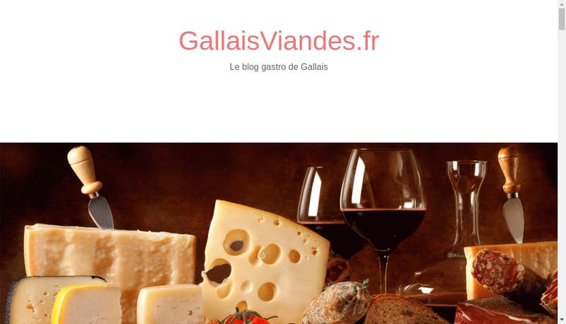 Capture d'écran du site de Gallais Viandes