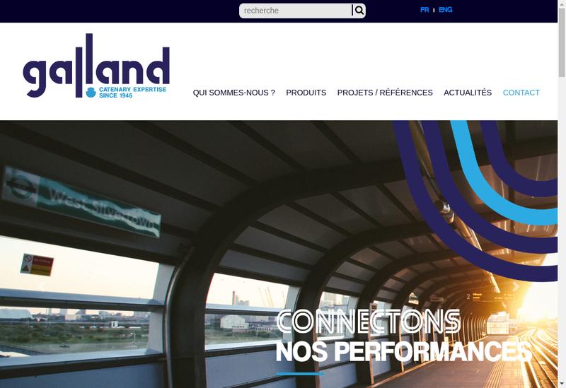 Capture d'écran du site de Galland