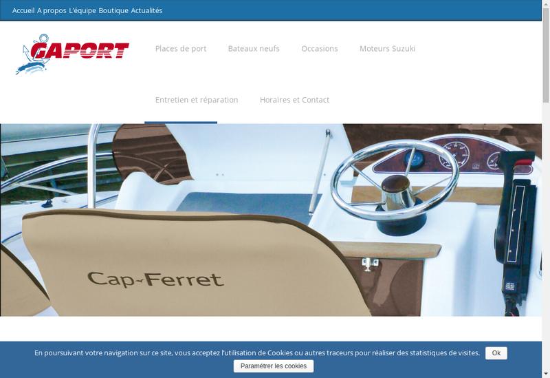 Capture d'écran du site de Gaport SARL