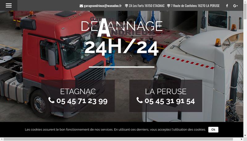 Capture d'écran du site de Gda