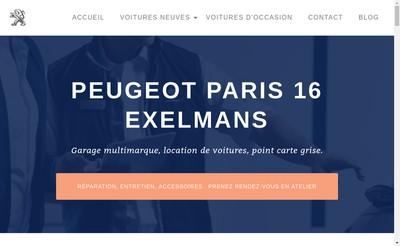Site internet de Paris Exelmans Automobiles