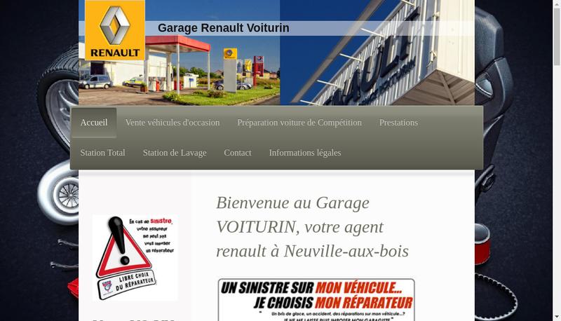 Capture d'écran du site de Garage Voiturin SA
