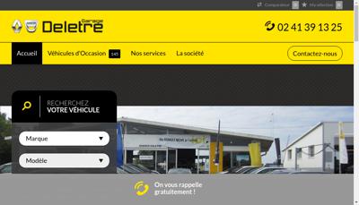 Capture d'écran du site de Garage Deletre