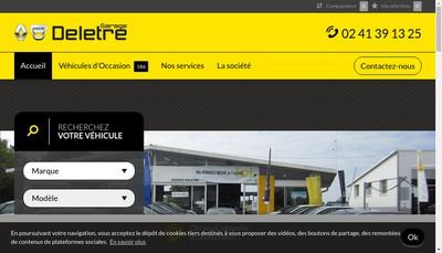 Site internet de Garage Deletre