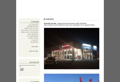 Capture d'écran du site de Garage de Paris