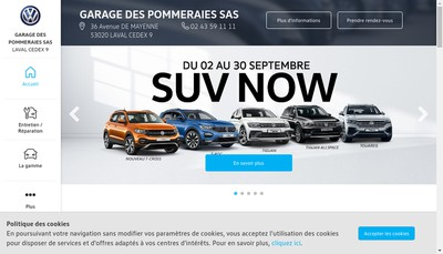 Site internet de Garage des Pommeraies