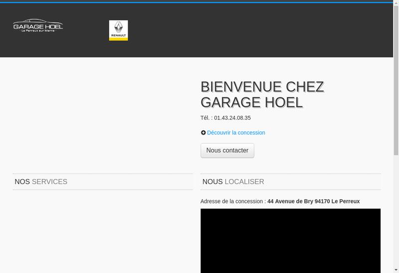 Capture d'écran du site de Garage Hoel