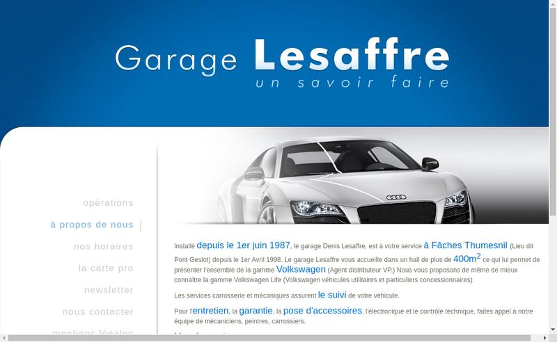 Capture d'écran du site de Alban Lesaffre
