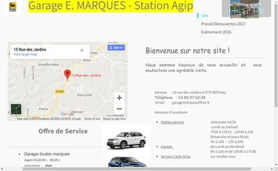 Site internet de Garage E Marques