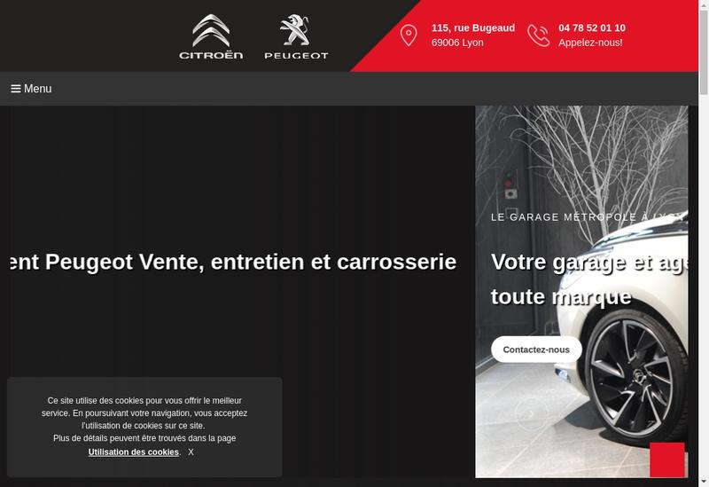 Capture d'écran du site de Garage-Metropole