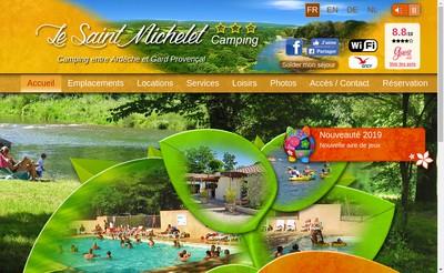 Site internet de Camping le Saint Michelet