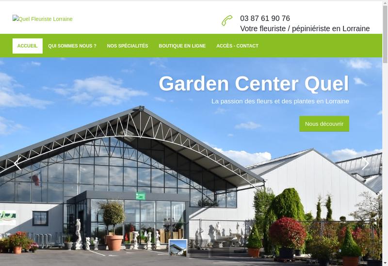 Capture d'écran du site de Garden Center Quel