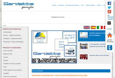 Site internet de Gardette Industrie