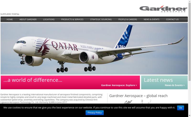 Capture d'écran du site de Gardner Aerospace Mazeres