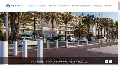 Capture d'écran du site de Groupe Garelli