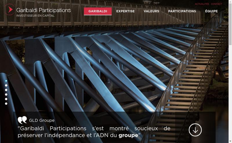 Site internet de Garibaldi Participations