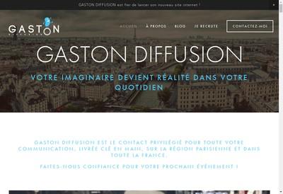 Site internet de Gaston Diffusion
