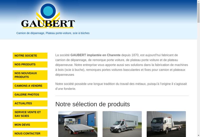 Capture d'écran du site de Gaubert Industries