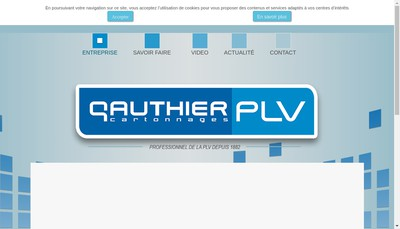 Site internet de Cartonnages Gauthier Plv