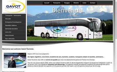 Site internet de Gavot Tourisme Voyages Gavot Leman Chatel Bus