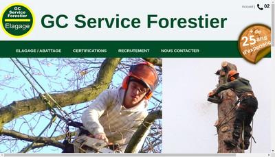 Site internet de SARL GC Service Forestier