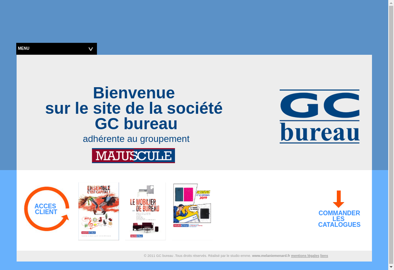 Capture d'écran du site de GC Bureau