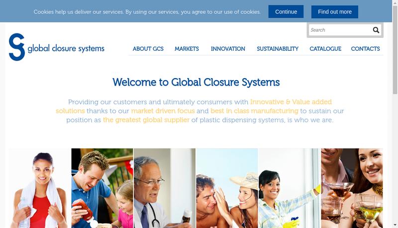 Capture d'écran du site de Global Closure Systems France 1