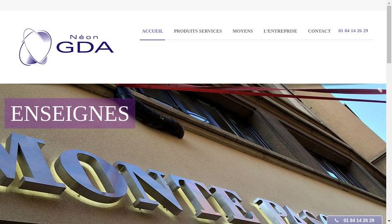 Capture d'écran du site de Neon Gda
