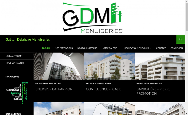Site internet de Gaetan Delahaye Menuiseries