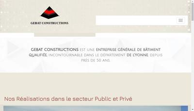 Site internet de Gebat Constructions