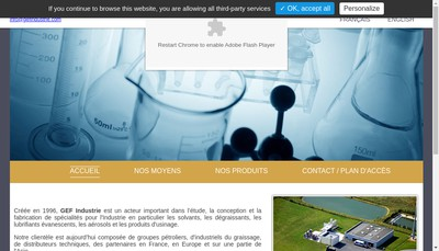 Site internet de Gef Industrie