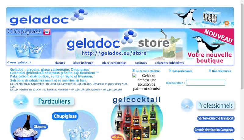Capture d'écran du site de Geladoc