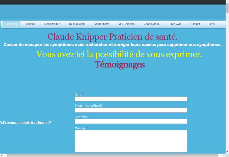 Capture d'écran du site de Enkido