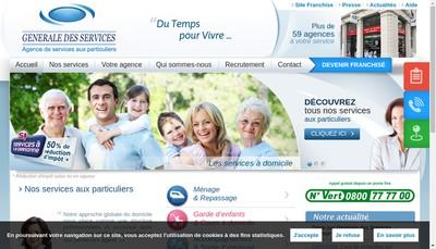Site internet de Generale des Services