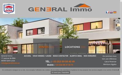 Site internet de General Immo