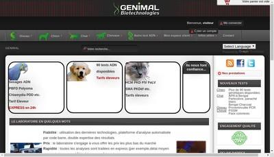 Site internet de Genimal