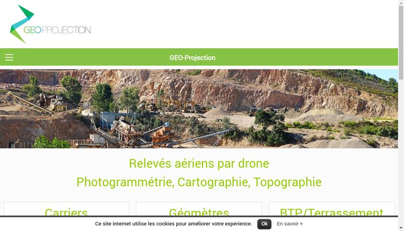 Capture d'écran du site de Geo Projection
