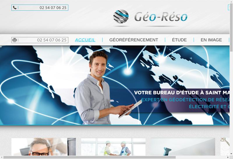 Capture d'écran du site de Geo Reso