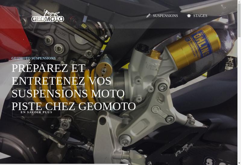 Capture d'écran du site de Track Parts - Lap Event