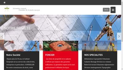Site internet de Geoprojet
