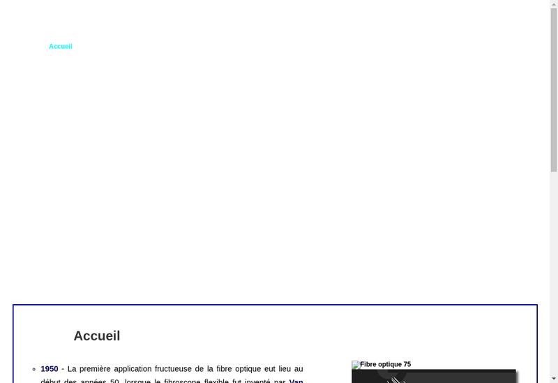 Capture d'écran du site de Geoptic
